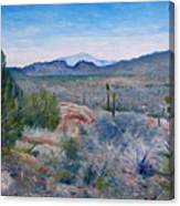 Mojave Desert With Mt San Jacinto California Usa 2001   Canvas Print