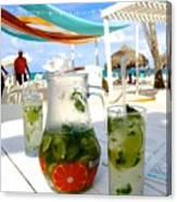Mojitos On The Beach- Punta Cana Canvas Print