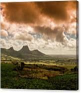 Moka Mountains Canvas Print
