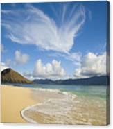Mokulua Island Beach Canvas Print