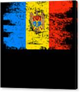 Moldova Gift Country Flag Patriotic Travel Shirt Europe Light Canvas Print