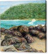 Moloa'a Rocks Canvas Print