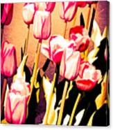 Molten Gold Tulips Canvas Print