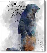 Mom And Baby Bear Canvas Print