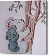 Momma And Baby Koala Canvas Print