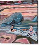 Momma At Slide Rock Park Arizona Canvas Print
