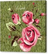 Mom's Day Elegance Vintage Rose Canvas Print