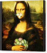 Mona Lisa Bunny Canvas Print