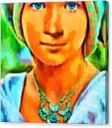 Mona Lisa Young - Da Canvas Print