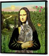 Mona Lisas Norwegian Forest Cat Canvas Print