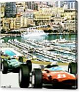 Monaco Grand Prix Racing Poster - Original Art Work Canvas Print