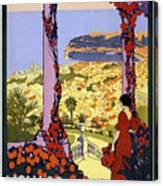 Monaco, Monte Carlo, View From Hotel Terrace Canvas Print