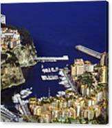 Monaco On The Mediterranean Canvas Print