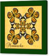 Monarch Butterfly Pin Wheel Canvas Print