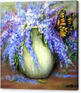Monarch Of The Lilacs Canvas Print