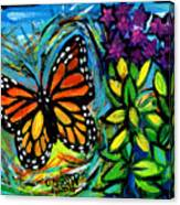 Monarch With Milkweed Canvas Print