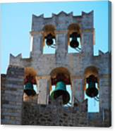 Monastery Bell Tower On Patmos Island Greece Canvas Print