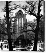 Monastery Graveyard In The Snow Cdf Canvas Print