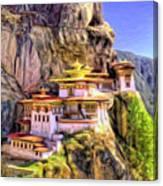 Monastery In Bhutan Canvas Print