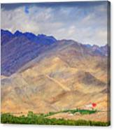 Monastery In The Mountains Canvas Print