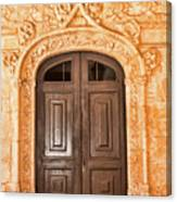 Monastery Of Jeronimos Door Canvas Print