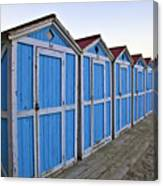 Mondello Beach Cabanas Canvas Print