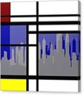 Mondrian In N Y Canvas Print