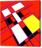 Mondrian Lays A Carpet Canvas Print