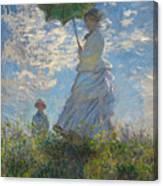 Monet , Woman With A Parasol  Canvas Print