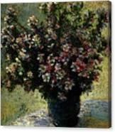 Monet Claude Vase Of Flowers Canvas Print