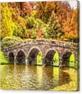 Monetcalia Catus 1 No. 9 - Monet Decides To Paint The Arched Bridge At Stourhead. L A S Canvas Print