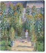 Monet's Garden At Vetheuil Canvas Print