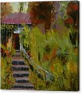 Monet's Garden Cottage Canvas Print