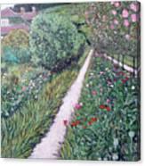 Monet's Garden Path Canvas Print