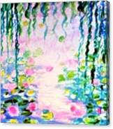 Monet's Water Lily Pond  Canvas Print