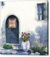 Monevasia Doorway Canvas Print