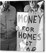 Money For Homes Not War Anti Gulf War Rally Tucson Arizona 1991 Canvas Print