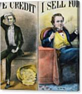 Money Lending, 1870 Canvas Print