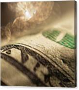 Money With Bokeh Canvas Print