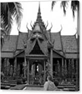 Monk At The Museum Canvas Print