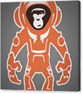 Monkey Crisis On Mars Canvas Print