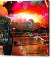 www.nospankingthemonkey.com Monkey Painted Italy On A Moon Lit Night Canvas Print