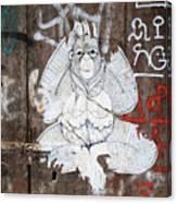 Monkey With Eyes Canvas Print