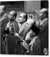 Monks Chanting - Jing'an Temple Shanghai Canvas Print