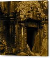 Monks Leaving Angkor Wat Canvas Print