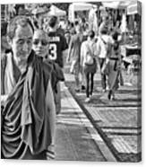 Monks Out And About Canvas Print