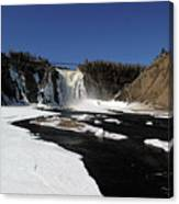 Montmorency Fall, Winter Canvas Print