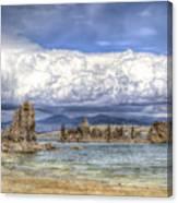 Mono Lake Tufas And Clouds Canvas Print