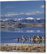 Mono Lk Winter Canvas Print
