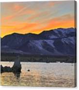 Mono Sunset Canvas Print